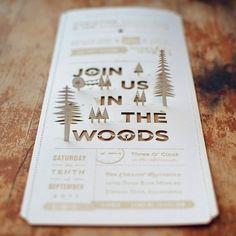 Christine + Ian's DIY Woodland Wedding Invitations… Handmade Wedding, Diy Wedding, Dream Wedding, Wedding Day, Woodsy Wedding, Trendy Wedding, Camping Wedding, Campground Wedding, Wedding Photos