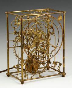 Bradt, Brass Kinetic Clock : Lot 8050