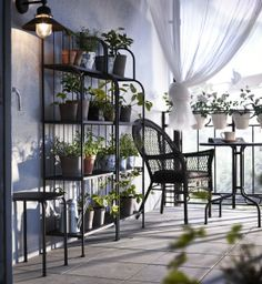 Bring out your botanical side. These space saviing plant shelving units from IKEA can help create a garden even in the smallest outdoor spaces.