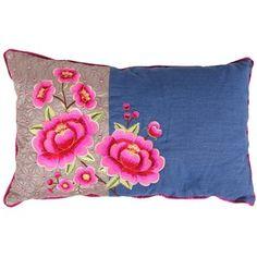 Pip Studio Multi Flower Cushion - Denim - 30x50cm
