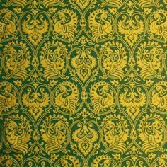A replica of a damask from the 14th century Lucca, Italy. The original belongs to the state collections in Düsseldorf, Germany.