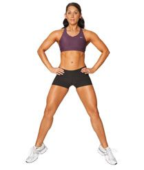 Burn Up Your Inner Thighs & Take Them To The Next Level With Plie Squat Jumps!
