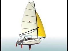 """BLACKTIP -- A 17'5"""" (5.30m) catboat gunkholer - YouTube"""