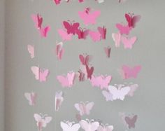 Pink Gray and White Chandelier Butterfly by RustyAnchorPrints