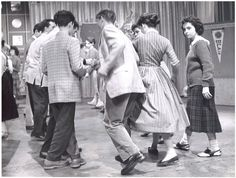 "American Bandstand dancers - doing ""The Stroll"""