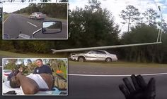 Biker captures footage of driver 'suffering stroke at the wheel' #DailyMail