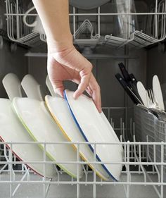 Toothbrush holder looking a little grimy? How about that dish drain? Swear by the dishwasher for effortlessly cleaning soap dishes, toothbrush holders, dish drains, range hood filters and more.