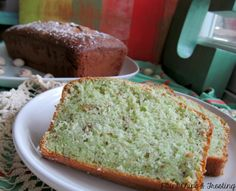 Pistachio Loaf -1 box white cake mix 1 3.4 oz. box pistachio pudding 1/4 cup white sugar 1/2 cup oil 1/2 cup cold water 1 cup sour cream 4 eggs 1/2 cup chopped nuts