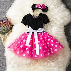 Children's Clothing Toddler Girl Clothes Fancy Kids Dresses For Girls Ear Headband Carnival Costume Ballet Party Tutu Outfits Tutu Outfits, Girls Tutu Dresses, Tutus For Girls, Princess Dresses, Dress Girl, Vestidos Minnie, Princess Party Costume, Baby Girl Tutu, Baby Girls