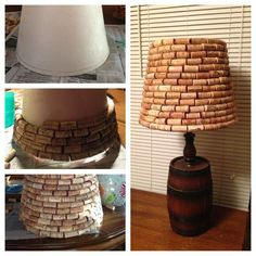 Check out this cute cork lamp shade! You can buy your corks from us too: http://corks-n-crafts.com