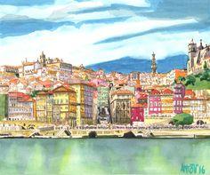 Oporto (Portugal) - watercolors