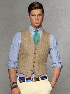 Herringbone Langley Vest - Polo Ralph Lauren Cloth - RalphLauren.com