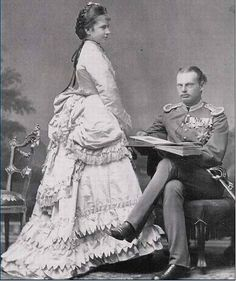 Royal Highnesses Prince Leopold and Princess Gisela of Bavaria. Married: April 20, 1873