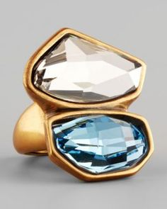 Oscar de la Renta Abstract Faceted Crystal Ring - White Aquamarine.jpg