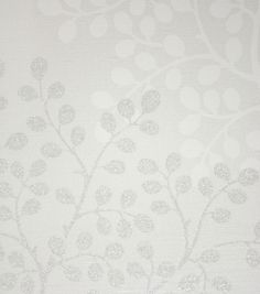Lindos Vinyl Wallpaper A contemporary vinyl wallpaper designed with an array of bud-like foliage printed in reflective silver and cream on off-white.