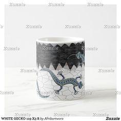 WHITE GECKO 119 X3 R Two-Tone COFFEE MUG