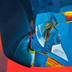 """Artist Noemi Ruiz (Puerto Rican: 1931) - """"Jardín del Pensamiento"""""""