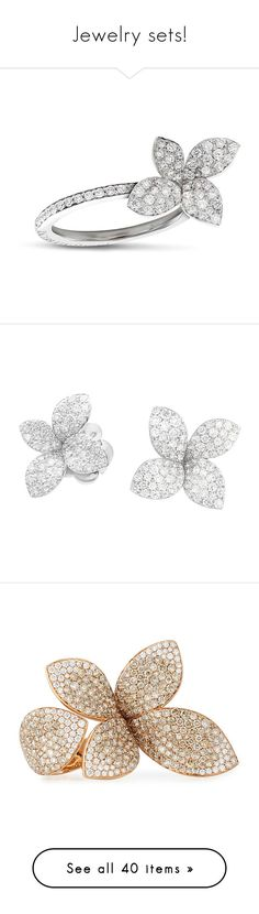 """""""Jewelry sets!"""" by joanna-tabakou ❤ liked on Polyvore featuring jewelry, rings, white, 18 karat gold ring, white ring, white gold jewellery, 18k jewelry, 18 karat gold jewelry, earrings and pasquale bruni"""