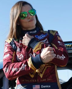 Danica Patrick Wears Wonder Woman NASCAR Suit