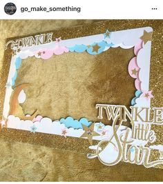 Twinkle twinkle little star gender reveal photo prop. Party and baby showe. Baby Shower Parties, Baby Shower Themes, Baby Boy Shower, Shower Ideas, Baby Showers, Gender Party, Baby Gender Reveal Party, Baby Shower Photo Booth, Baby Shower Photos