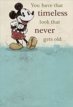 Mickey Mouse Timeless Disney Birthday Card By Sunrise Greetings