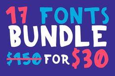 All My Fonts Bundle 17 Fonts. Wedding Fonts