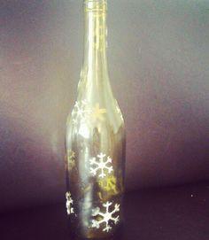 snow wine bottle
