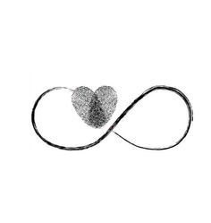 This heart is a combo of two fingerprints joining together to make one heart...I want to get this with my kids fingerprints to show my infinite love for them (plus I'm a math geek) ❤️