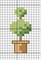 Easy Tree Cross Stitch Pattern via Hopeful Honey