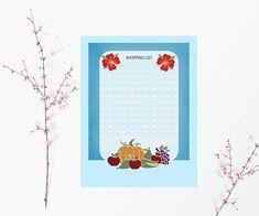 Lista de la compra imprimible,bloc de notas para la cocina,lista de alimentos para comprar,lista imprimible,libreta para notas,planificador