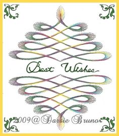 Elegant Swirl Paper Embroidery Pattern for Greeting Cards. $1.99, via Etsy.