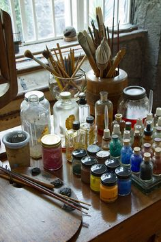 Supplies in the studio of Frida Kahlo