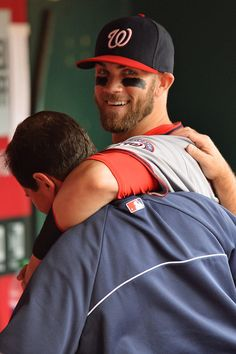 Bryce Harper - Washington Nationals v Cincinnati Reds. What a cute shot. That great eyeblack