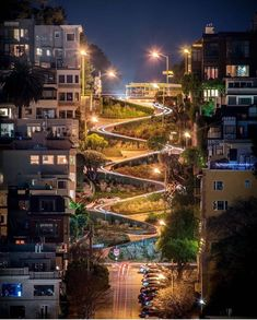 Lombard Street in San Francisco is often called the most crooked street in the world. Actually, it's the second crookedest, but San Francisco has the number one street as well. Lombard Street, San Francisco Travel, San Francisco California, California Usa, San Francisco Street, San Francisco Home, San Francisco Alcatraz, San Francisco Bridge, San Francisco Skyline