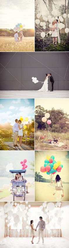 Couple, Front/Side/Back facing, Full body shot, Balloons Casual or formal outfit fun shot Engagement Couple, Engagement Pictures, Engagement Shoots, Wedding Pictures, Couple Photography, Engagement Photography, Photography Poses, Wedding Photography, Pre Wedding Photoshoot