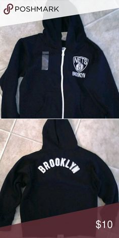 Boys size 7 Brooklyn Nets Zip up Hoodie boys size 7 Brooklyn Nets NBA Store zip up hoodies new with tags they have the sticker tag on them from a smoke-free home NBA store Jackets & Coats