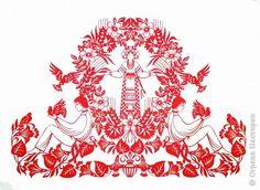 Картина панно рисунок Вырезание Знакомство с мастерами вытынанки Ирина Кузьменко Бумага фото 3