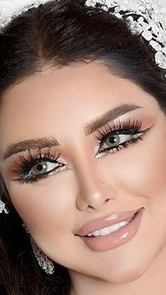 Sparkly Makeup, Sexy Makeup, Girls Makeup, Beauty Makeup, Hair Makeup, Bridal Makeup Looks, Natural Wedding Makeup, Bride Makeup, Wedding Hair And Makeup