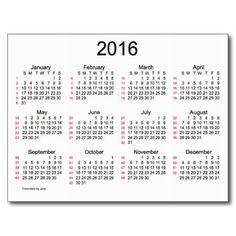 52 Weeks 2016 Mini Calendar by Janz Postcard