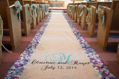 wedding decorations, wedding diy, aisle runner, ceremony decor, deadwood, south dakota wedding dailyhomemaker.com