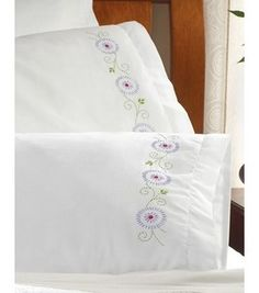 Bucilla Pillowcase Pair Stamped Embroidery 20''X30''-Passion Flowers: embroidery: cross stitch: needle arts: Shop   Joann.com