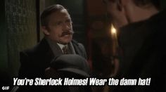The greatest quote in the preview for the up coming Holiday Sherlock special