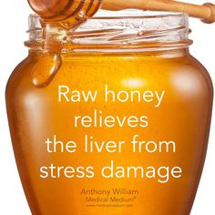 Raw honey relieves the liver from stress damage🌟 _ Learn more about the healing benefits of raw honey in my new book Liver Rescue… Matcha Benefits, Lemon Benefits, Coconut Health Benefits, Stress, Natural Cures, Natural Health, Ayurveda, Health Tips, Health And Wellness