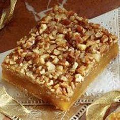 Pecan Pie Surprise Bars Recipe using cake mix