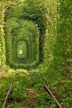 Amazing use of an abandoned railway. Ukraine, I believe.