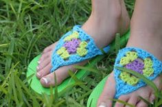 Add Crochet Top to Flip Flops - Free Pattern