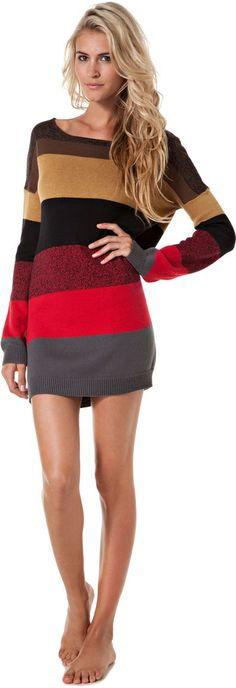 fall striped sweater dress