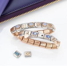 Celebrate September with sparkling sapphires. Nomination Bracelet, Italian Style, Birthstones, Sapphire, Charms, Jewels, Bracelets, September, Italy