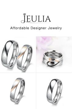 81ac455c60 #Jeulia JEULIA Heart Shaped Promise Ring For Couple Titanium Steel.  Discover more stunning Couple