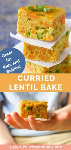 This lentil bake is a great finger food style lunch for kids (and adults). Packed full of lentils and veggies making it a healthy option. Great for at home or for packing in the lunchbox / picnics. A fantastic baby-led weaning lunch or dinner. Healthy Picnic, Picnic Foods, Healthy Meals For Kids, Kids Meals, Healthy Lunches, Healthy Food, Lunch Meals, Healthy Eating, Baby Led Weaning